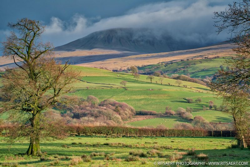 One minute of sun near the Picws Du Moutains in Wales UK