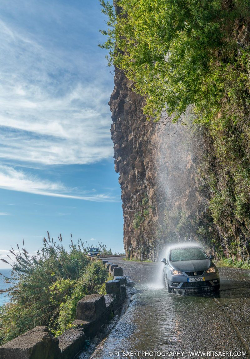 Washing the rental car... - Madeira