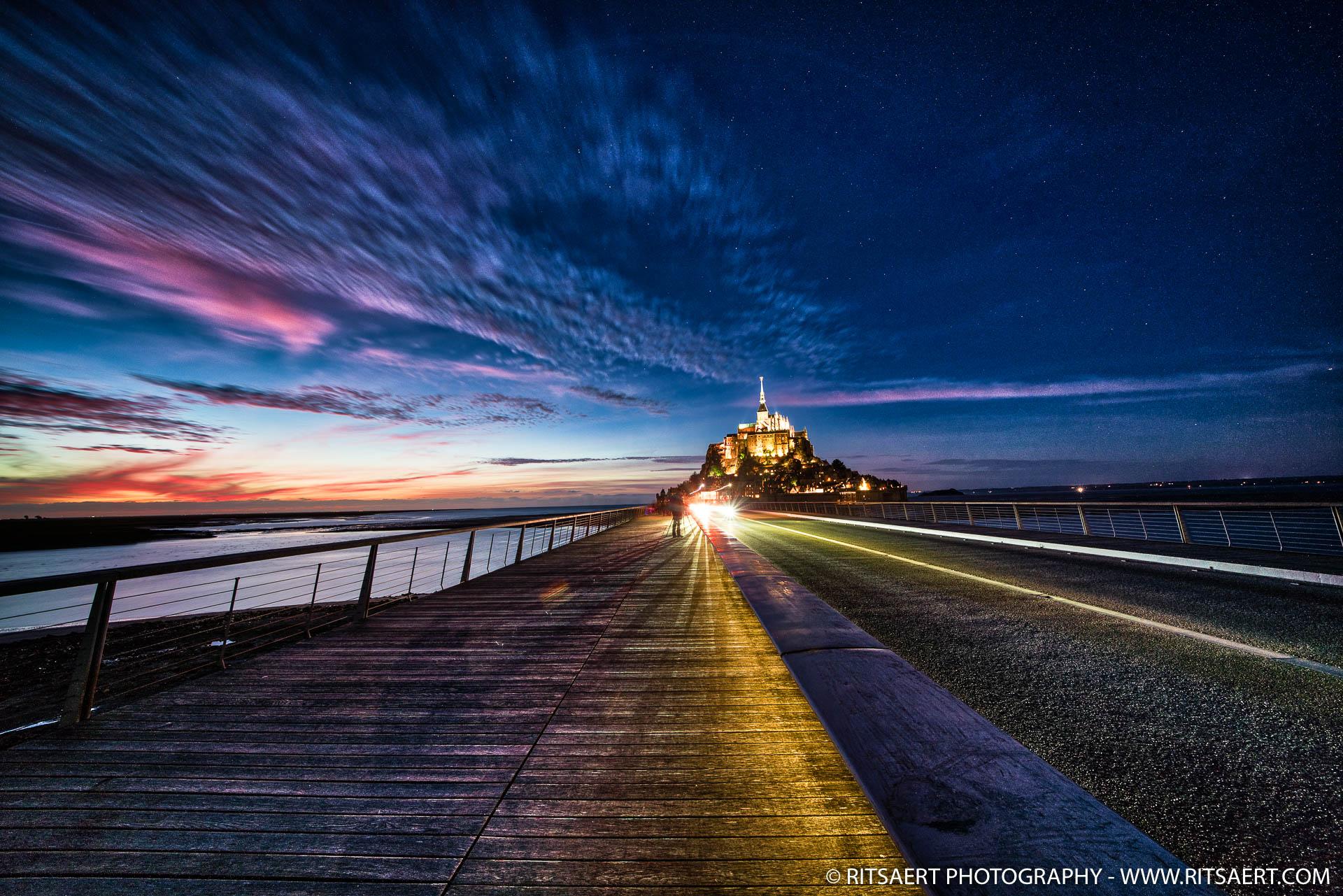 Blue hour at Mont Saint-Michel - France