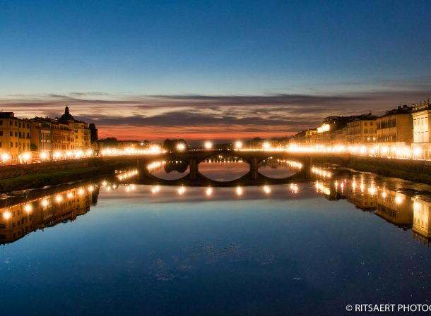 Sunset at Ponte Vecchio - Florence - Italy