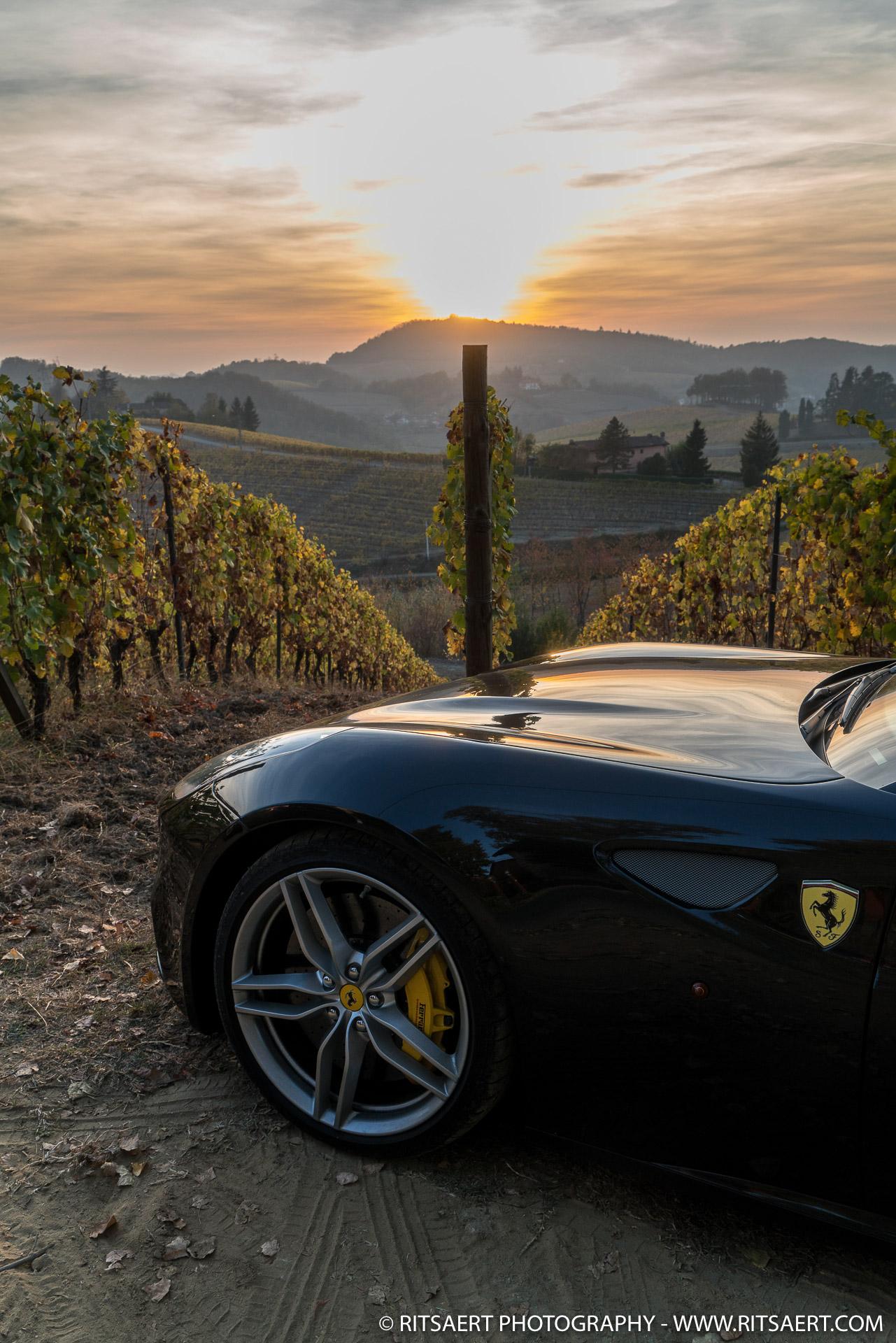 Sunset - Ferrari FF - near Milan - Italy