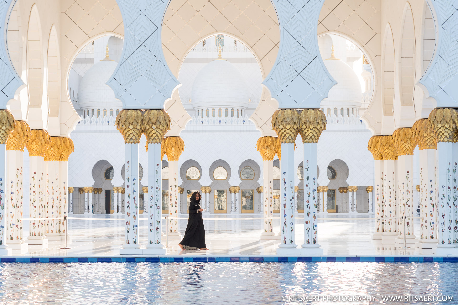 Woman at Sheikh Zayed Grand Mosque - Abu Dhabi