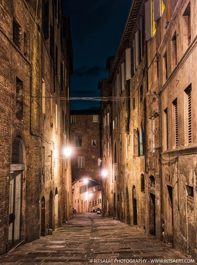 Siena at night - Florence - Italy